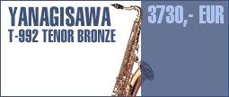 Yanagisawa T-992 Tenor Sax Bronce