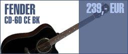 Fender CD-60 CE BK