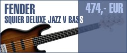 Fender Squier Deluxe Jazz V Bass 3SB