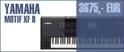 Yamaha Motif XF 8 Anniversary Bundle