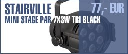 Stairville Mini Stage Par 7x3W TRI Black