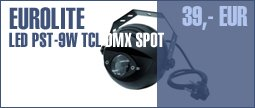 Eurolite LED PST-9W TCL DMX Spot