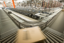 Europe's biggest postal dispatch warehouse