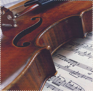 Vienna World Glasses Cleaning Cloth Violin