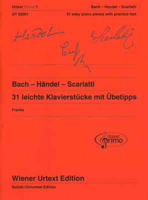 Universal Edition Bach Händel Scarlatti Piano